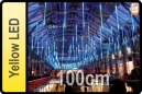 GOTEO DE LUZ 5 TUBOS DE 100 CM LED AMARILLO (CORTINA 5 TUBOS)