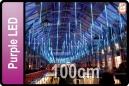GOTEO DE LUZ 5 TUBOS DE 100 CM LED PURPURA (CORTINA 5 TUBOS)