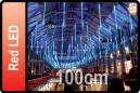 GOTEO DE LUZ 5 TUBOS DE 100 CM LED ROJO (CORTINA 5 TUBOS)