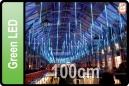 GOTEO DE LUZ 5 TUBOS DE 100 CM LED VERDE (CORTINA 5 TUBOS)