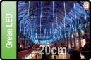 GOTEO DE LUZ 5 TUBOS DE 20 CM LED VERDE (CORTINA 5 TUBOS)